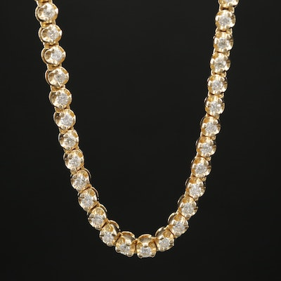 14K Gold 6.02 CTW Diamond Riviera Necklace