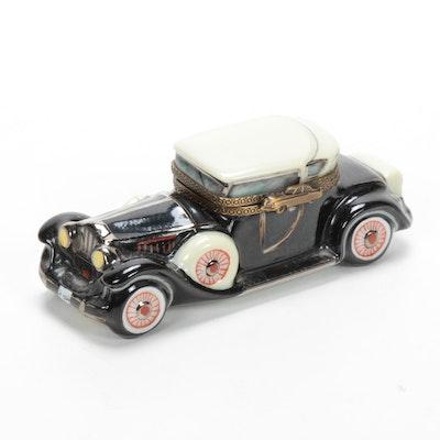 Hand-Painted Porcelain Car Limoges Box