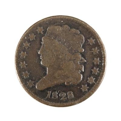 1828 Classic Head Half Cent, 13 Star Variety