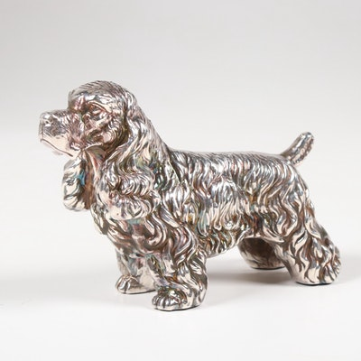 Sterling Silver Cocker Spaniel Figurine