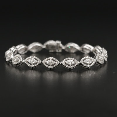 14K Gold 2.04 CTW Diamond Link Bracelet