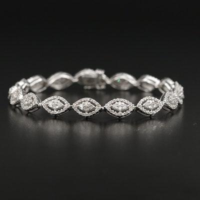 14K Gold 2.04 CTW Diamond Link Bracelet