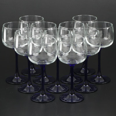 "Cristal D'Arques ""Neptune"" Glass Wine Hocks"