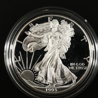 Better Date 1993-P American Silver Eagle Proof Bullion Coin