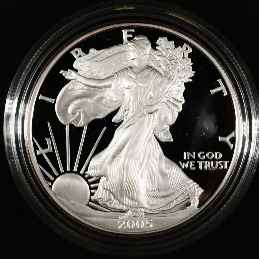 2005-W American Silver Eagle Proof Bullion Coin