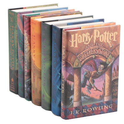 "Complete ""Harry Potter"" Series Including First Edition ""Order of the Phoenix"""