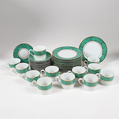 "Georges Briard ""Imperial Malachite"" Hand-Painted Porcelain Dinnerware"