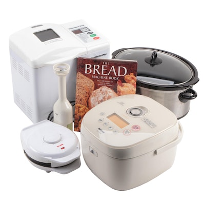 Breadman Breadmaker, Crock Pot Slow Cooker, National Rice Cooker and More