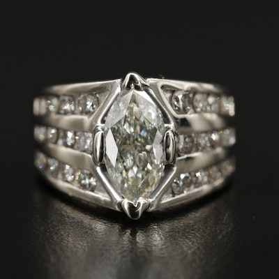 14K Gold 2.72 CTW Diamond Ring