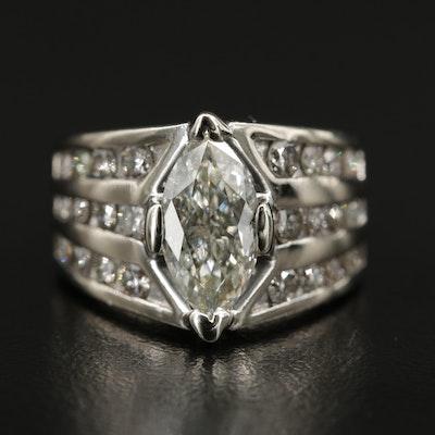 14K Gold 2.72 CTW Diamond Ring