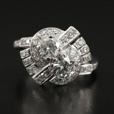 Vintage 14K Gold 2.06 CTW Diamond Ring