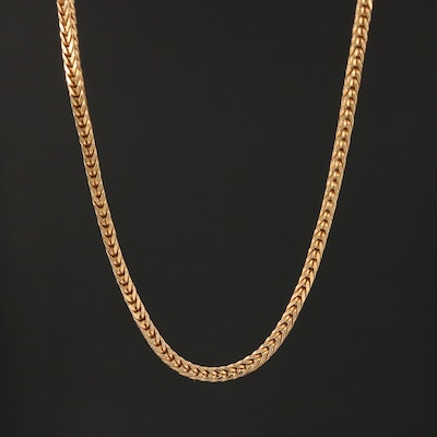 18K1 Gold Wheat Link Chain