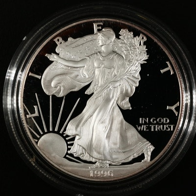 1996-P American Silver Eagle Proof Bullion Coin