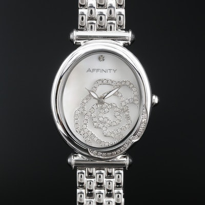 Affinity 0.50 CTW Diamond and Stainless Steel Quartz Wristwatch