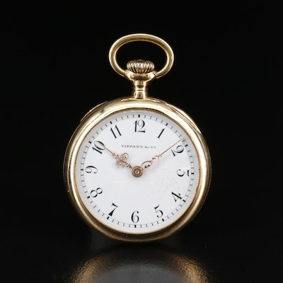 Tiffany & Co. 18K Gold Swiss Pocket Watch