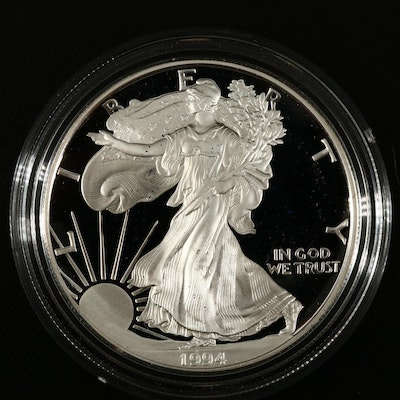 Key Date Low Mintage 1994-P American Silver Eagle Proof Bullion Coin