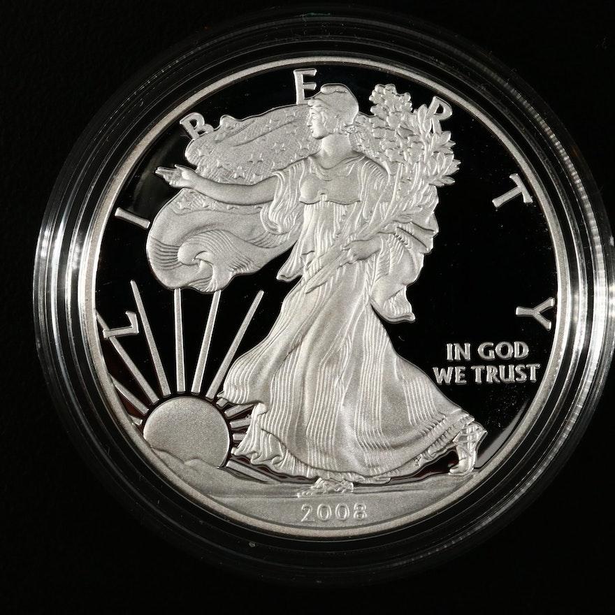 2008-W American Silver Eagle Proof Bullion Coin