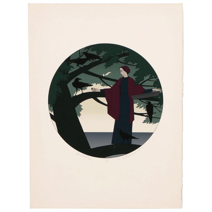 """Will Barnet Serigraph """"Ariadne"""", 1980"""
