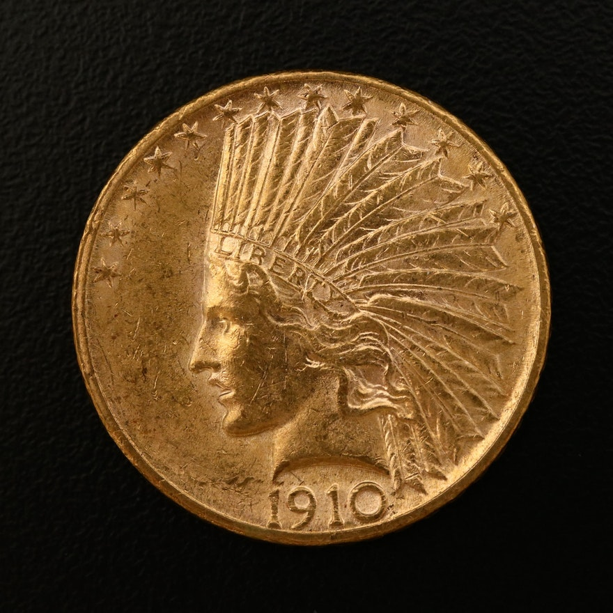 1910-S Indian Head $10 Gold Eagle Coin