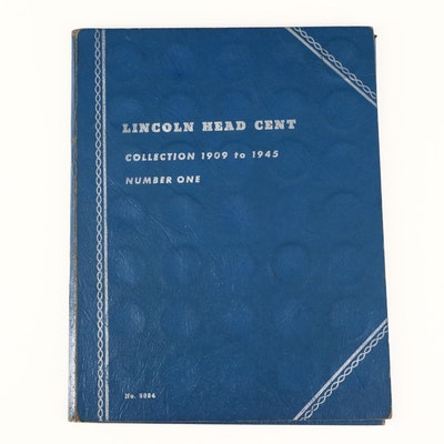 Whitman Binder of Lincoln Wheat Cents, 1909 to 1945