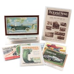 Automobile Pages From Magazines, Catalogs, Calendars, and More, Mid-20th Century