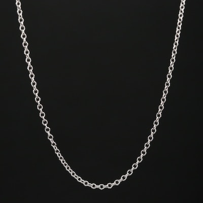 14K Cable Link Necklace