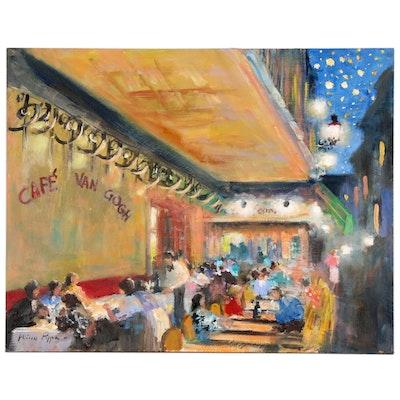 "Nino Pippa Oil Painting ""Arles - Cafe Van Gogh"""