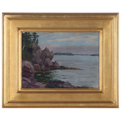 Will Hutchins Oil Painting of Lakeside View