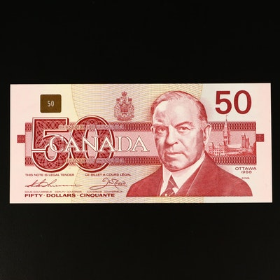 1988 Canada $50 Uncirculated Banknote