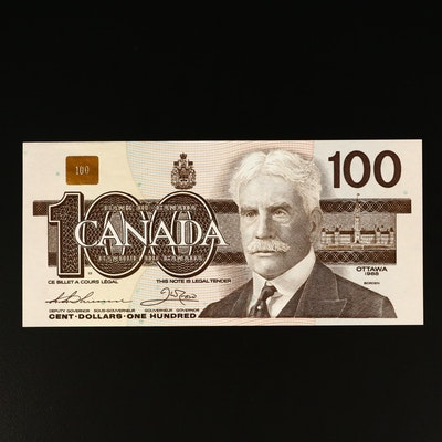 1988 Canada $100 Uncirculated Banknote