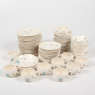 "Franciscan ""Starburst"" Atomic Dinnerware, Mid-20th Century"