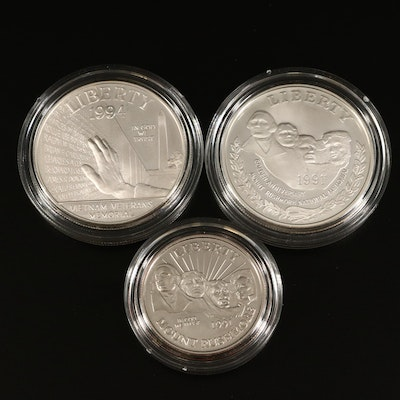 Two US Mint Commemorative Silver Dollar Sets