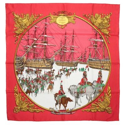 "Hermès ""Marine et Cavalerie"" Silk Scarf"