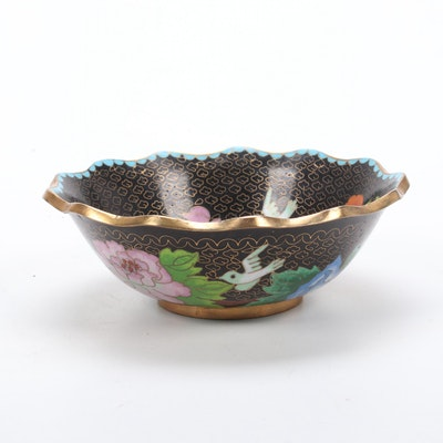 Chinese Cloisonné Bowl, 20th Century