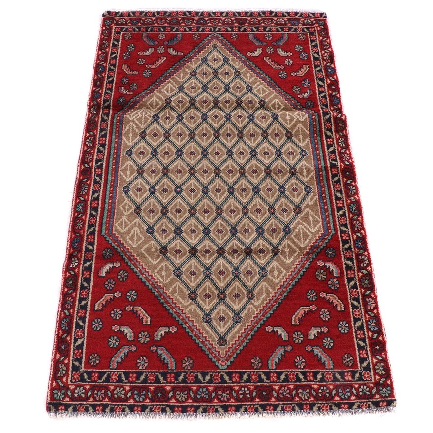 3'0 x 5'1 Hand-Knotted Persian Veramin Wool Rug