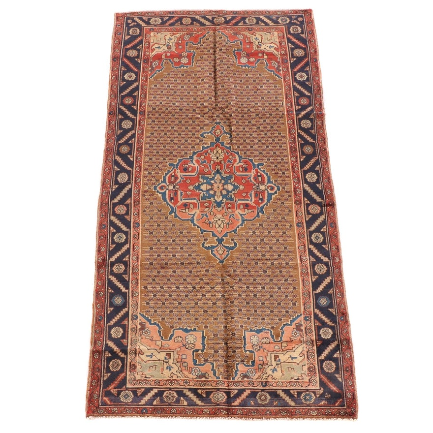 4'10 x 9'9 Hand-Knotted Persian Veramin Wool Rug