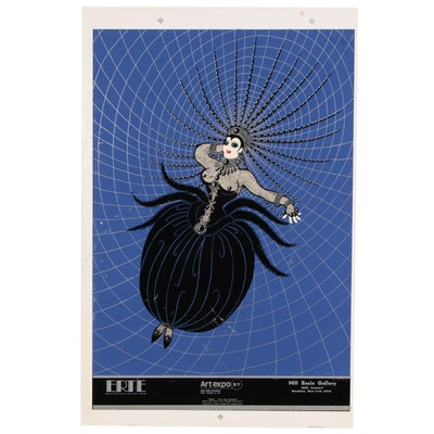 "Serigraph Poster After Erté ""Tara"" for Art Expo, New York"