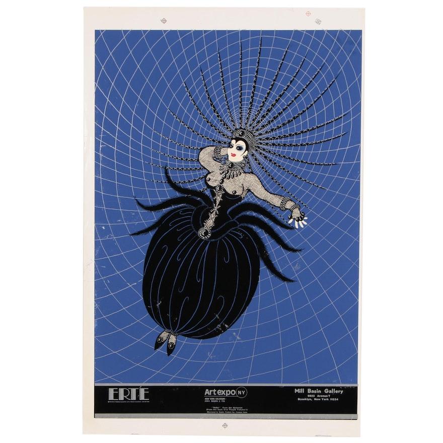 "Serigraph Poster After Erté ""Tara"" for Art Expo, New York"