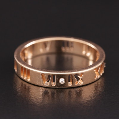 "Tiffany & Co. ""Atlas"" 18K Diamond Ring"
