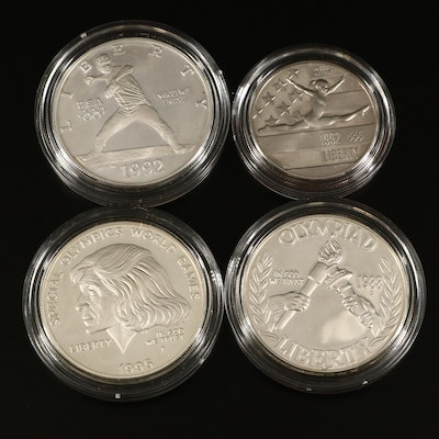 Three Olympic Themed US Mint Silver Dollar Commemorative Coin Sets