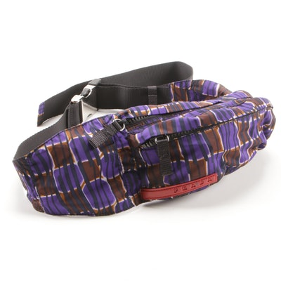 Prada Multicolor Nylon Piuma Belt Bag