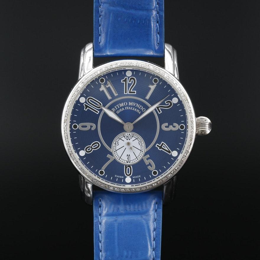 Ritmo Mundo Ocean's Twelve Diamond and Stainless Steel Quartz Wristwatch