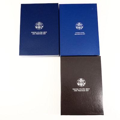 Three US Mint Prestige Coin Sets