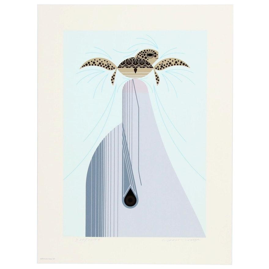 "Charley Harper Serigraph ""Dolfun"", 1977"