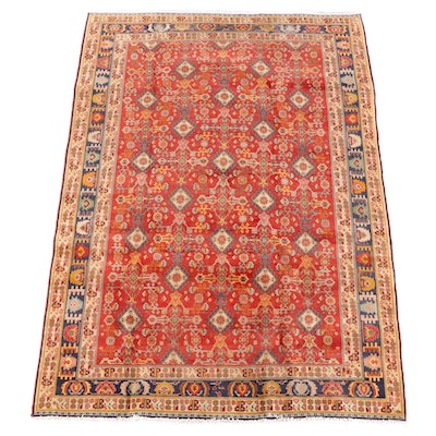 6'7 x 9'5 Hand-Knotted Persian Josheghan Wool Rug