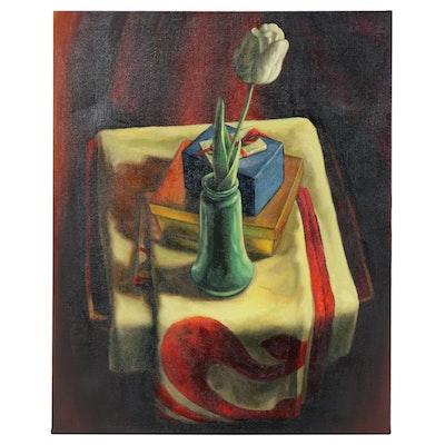 "Anita Dawson Oil Painting ""White Tulip"""
