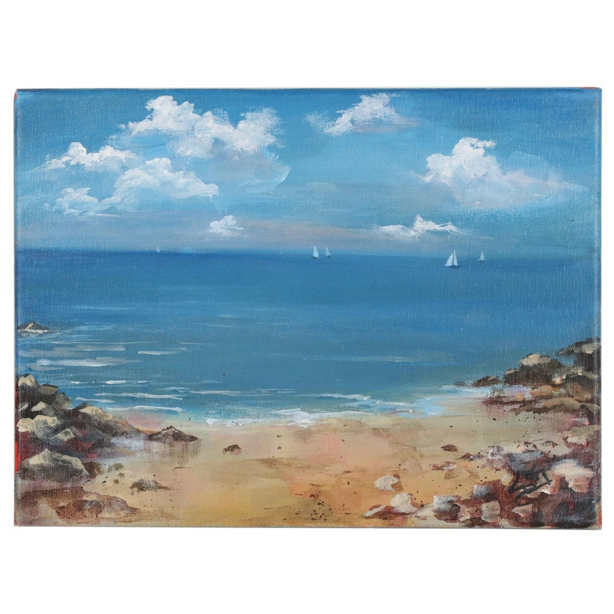 Sue Dion Coastal Landscape Acrylic Painting