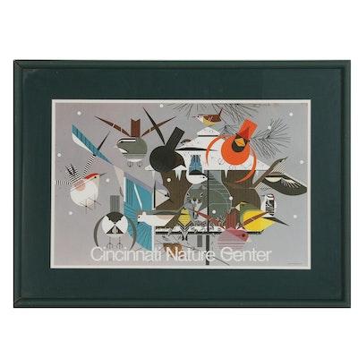"Cincinnati Nature Center Poster after Charley Harper ""Winter"""