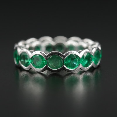 Lugano 18K Emerald Eternity Band