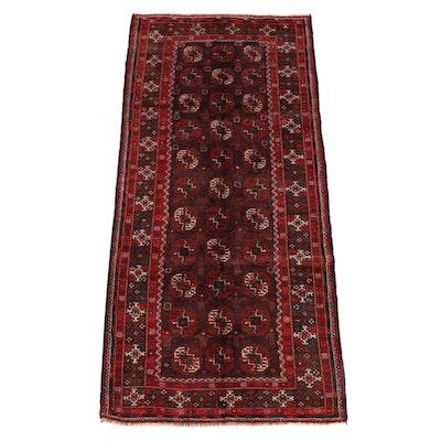 4'0 x 8'7 Hand-Knotted Turkmen Ersari Wool Long Rug